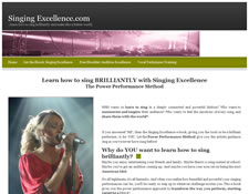 Singing Excellence Lessons